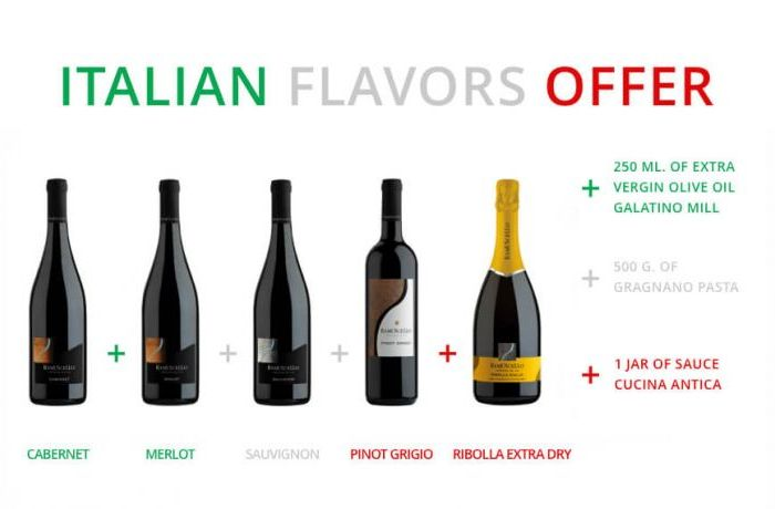 Extraordinary offer dedicated to Italian Flavors
