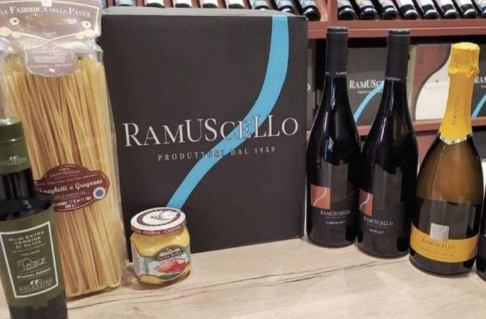 Prodotti enogastronomici del punto vendita di Cantina di Ramuscello